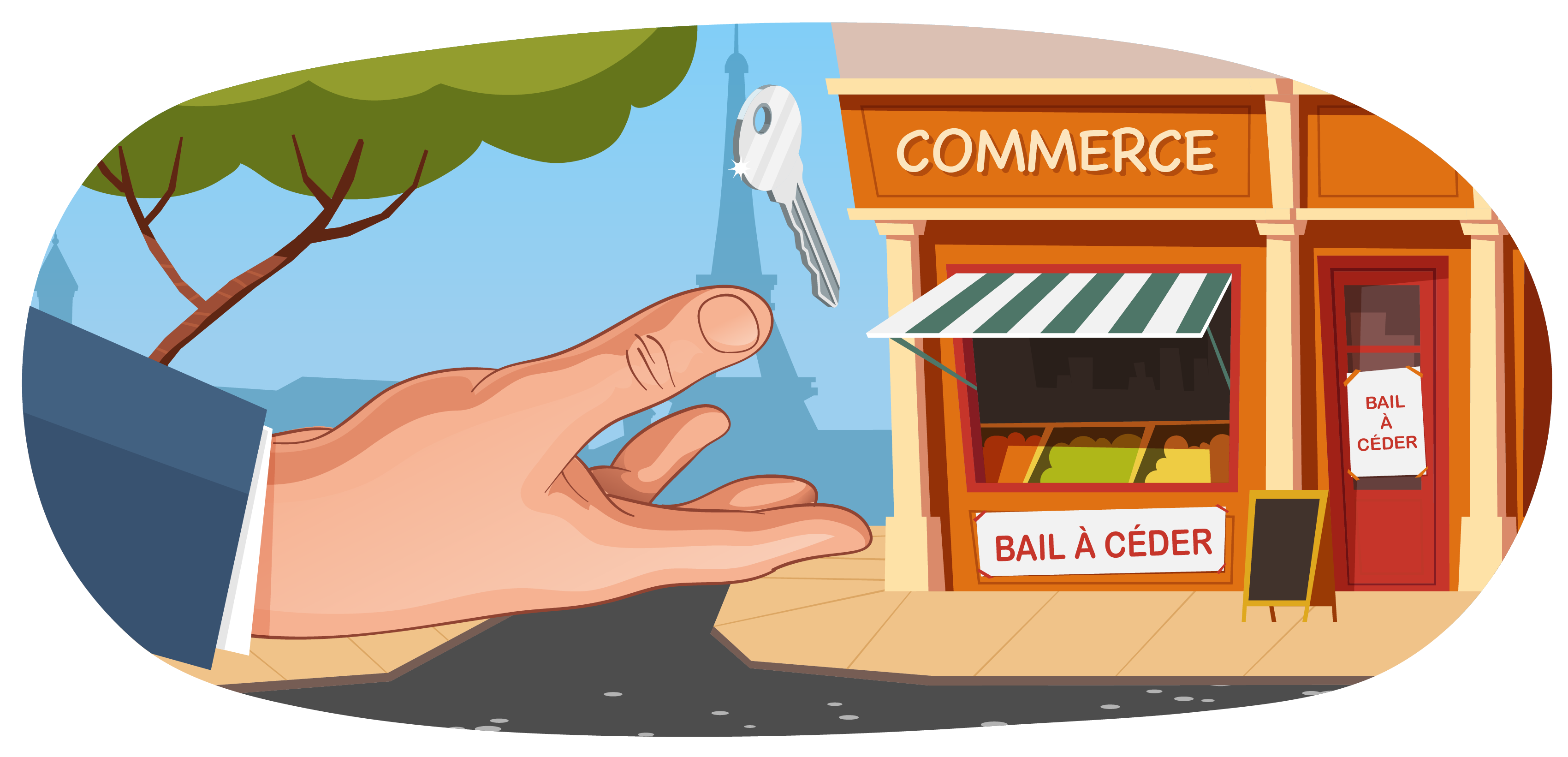illustration sur la cession d'un bail commercial